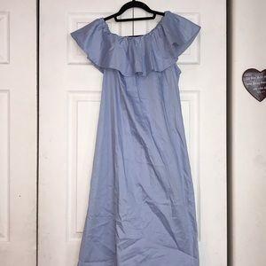 ✨NWT✨H&M off the shoulder midi dress